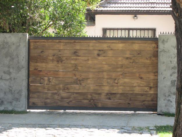 Portones automaticos en vitacura - Portales de madera ...